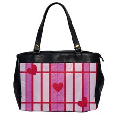 Fabric Magenta Texture Textile Love Hearth Office Handbags by Nexatart