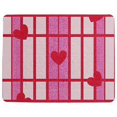 Fabric Magenta Texture Textile Love Hearth Jigsaw Puzzle Photo Stand (rectangular) by Nexatart