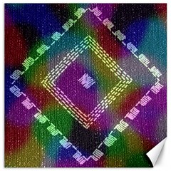 Embroidered Fabric Pattern Canvas 20  X 20   by Nexatart