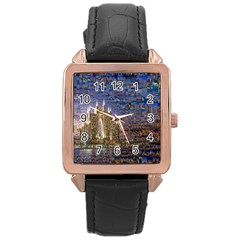 Dubai Rose Gold Leather Watch