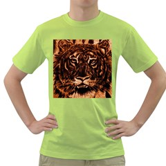 Eye Of The Tiger Green T Shirt