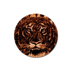 Eye Of The Tiger Magnet 3  (round)