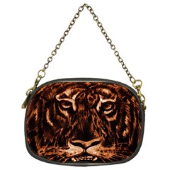 Eye Of The Tiger Chain Purses (two Sides)  by Nexatart