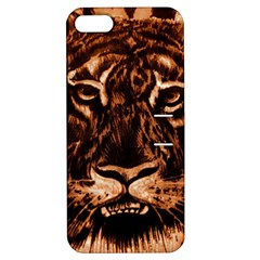 Eye Of The Tiger Apple Iphone 5 Hardshell Case With Stand by Nexatart