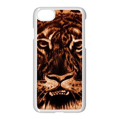 Eye Of The Tiger Apple Iphone 7 Seamless Case (white) by Nexatart