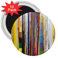 Fabric 3  Magnets (10 Pack)