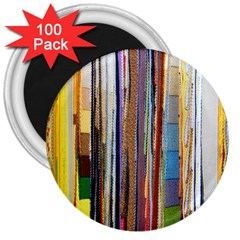 Fabric 3  Magnets (100 Pack)