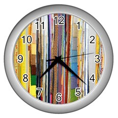 Fabric Wall Clocks (silver)