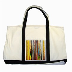 Fabric Two Tone Tote Bag
