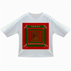 Fabric 3d Merry Christmas Infant/toddler T-shirts by Nexatart