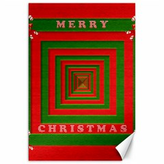 Fabric 3d Merry Christmas Canvas 20  X 30   by Nexatart