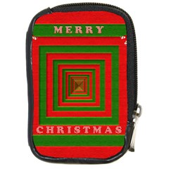 Fabric 3d Merry Christmas Compact Camera Cases by Nexatart
