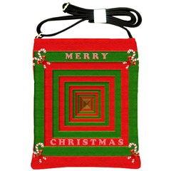 Fabric 3d Merry Christmas Shoulder Sling Bags