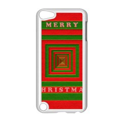 Fabric 3d Merry Christmas Apple Ipod Touch 5 Case (white) by Nexatart