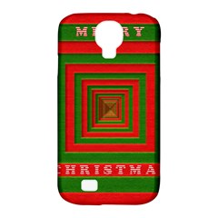 Fabric 3d Merry Christmas Samsung Galaxy S4 Classic Hardshell Case (pc+silicone) by Nexatart
