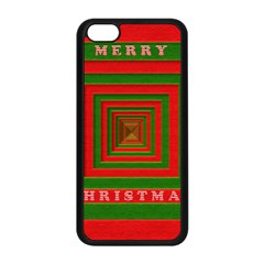 Fabric 3d Merry Christmas Apple Iphone 5c Seamless Case (black) by Nexatart