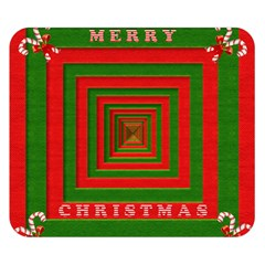 Fabric 3d Merry Christmas Double Sided Flano Blanket (small)  by Nexatart