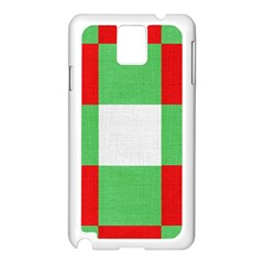 Fabric Christmas Colors Bright Samsung Galaxy Note 3 N9005 Case (white) by Nexatart