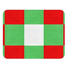 Fabric Christmas Colors Bright Double Sided Flano Blanket (large)
