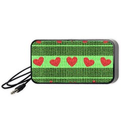 Fabric Christmas Hearts Texture Portable Speaker (black)