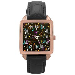 Fabric Cloth Textile Clothing Rose Gold Leather Watch  by Nexatart