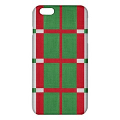 Fabric Green Grey Red Pattern Iphone 6 Plus/6s Plus Tpu Case by Nexatart