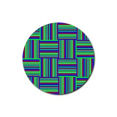 Fabric Pattern Design Cloth Stripe Rubber Round Coaster (4 Pack)  by Nexatart