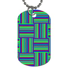 Fabric Pattern Design Cloth Stripe Dog Tag (one Side) by Nexatart