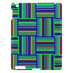 Fabric Pattern Design Cloth Stripe Apple Ipad 3/4 Hardshell Case by Nexatart