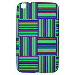 Fabric Pattern Design Cloth Stripe Samsung Galaxy Tab 3 (8 ) T3100 Hardshell Case  by Nexatart