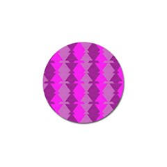 Fabric Textile Design Purple Pink Golf Ball Marker (10 Pack)