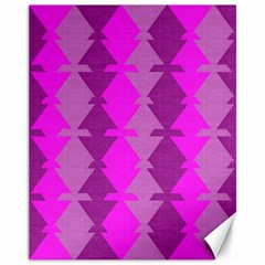 Fabric Textile Design Purple Pink Canvas 11  X 14   by Nexatart