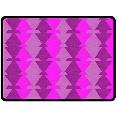 Fabric Textile Design Purple Pink Double Sided Fleece Blanket (large)  by Nexatart
