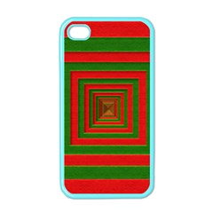 Fabric Texture 3d Geometric Vortex Apple Iphone 4 Case (color) by Nexatart