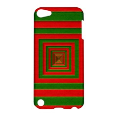 Fabric Texture 3d Geometric Vortex Apple Ipod Touch 5 Hardshell Case by Nexatart