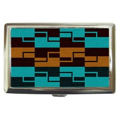 Fabric Textile Texture Gold Aqua Cigarette Money Cases