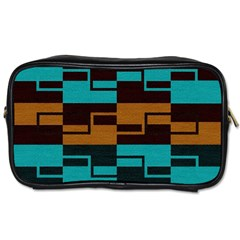 Fabric Textile Texture Gold Aqua Toiletries Bags by Nexatart