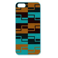 Fabric Textile Texture Gold Aqua Apple Seamless Iphone 5 Case (color) by Nexatart