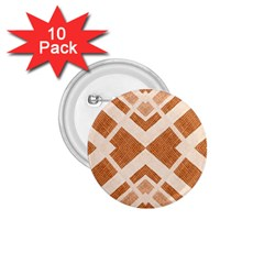 Fabric Textile Tan Beige Geometric 1 75  Buttons (10 Pack) by Nexatart