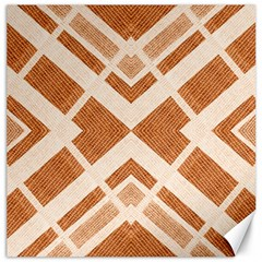 Fabric Textile Tan Beige Geometric Canvas 12  X 12   by Nexatart