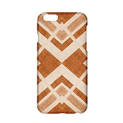 Fabric Textile Tan Beige Geometric Apple Iphone 6/6s Hardshell Case by Nexatart