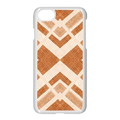 Fabric Textile Tan Beige Geometric Apple Iphone 7 Seamless Case (white) by Nexatart