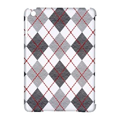 Fabric Texture Argyle Design Grey Apple Ipad Mini Hardshell Case (compatible With Smart Cover) by Nexatart