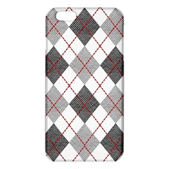 Fabric Texture Argyle Design Grey Iphone 6 Plus/6s Plus Tpu Case by Nexatart