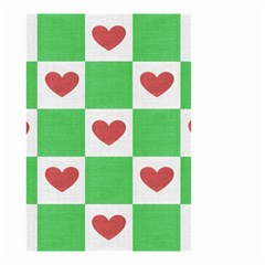 Fabric Texture Hearts Checkerboard Small Garden Flag (two Sides)