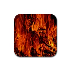 Fire Easter Easter Fire Flame Rubber Square Coaster (4 Pack)