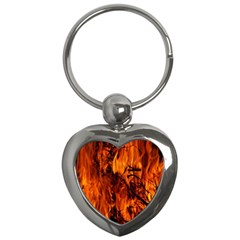Fire Easter Easter Fire Flame Key Chains (heart)  by Nexatart