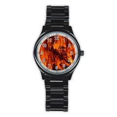 Fire Easter Easter Fire Flame Stainless Steel Round Watch