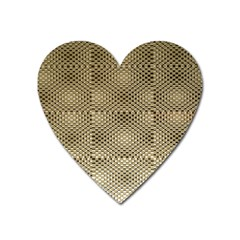 Fashion Style Glass Pattern Heart Magnet by Nexatart