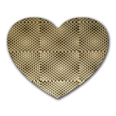 Fashion Style Glass Pattern Heart Mousepads by Nexatart